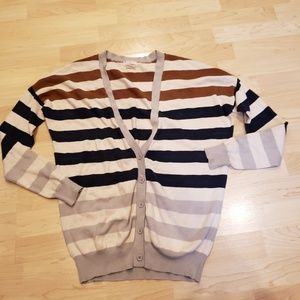 Anthropologie striped cardigan XS
